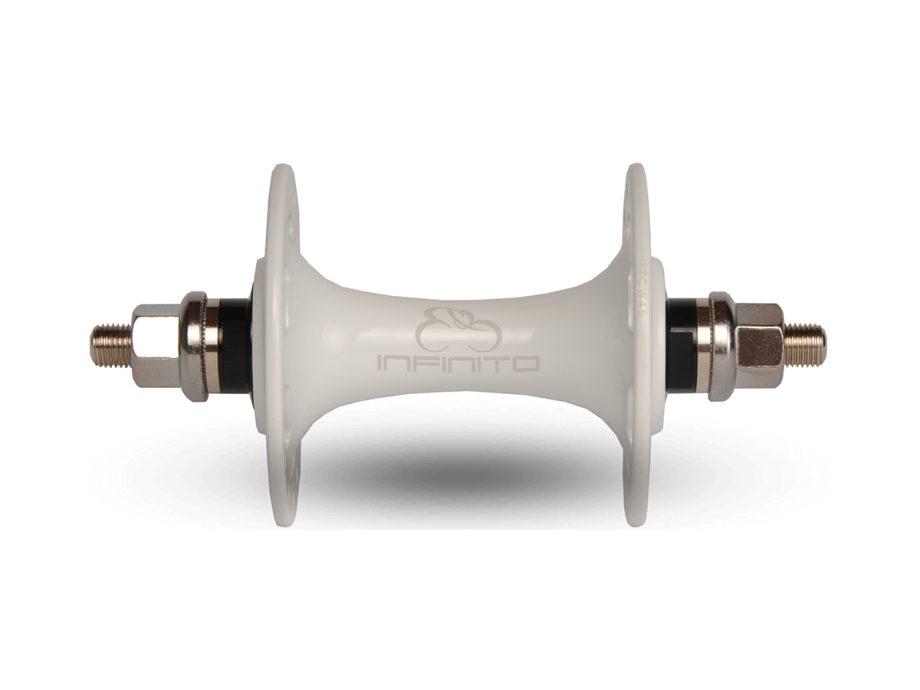 Infinito white track-hub (front)